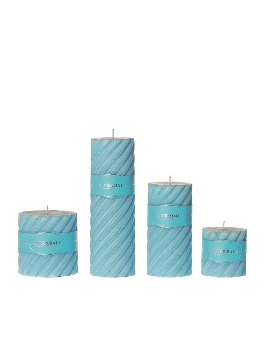 Candle Swirl ocean blue