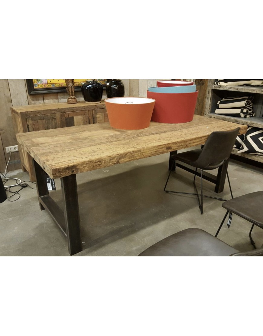 Dining table wood iron 200-95