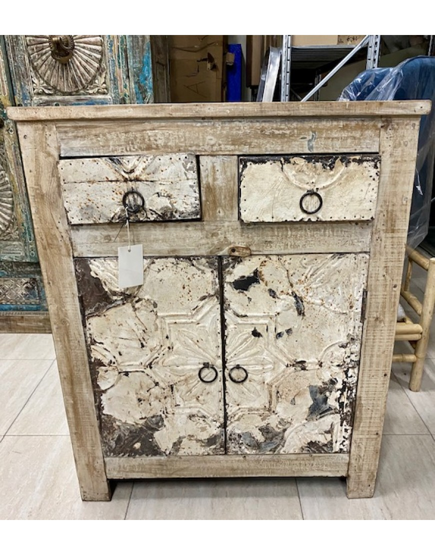 Rustic dresser with iron details