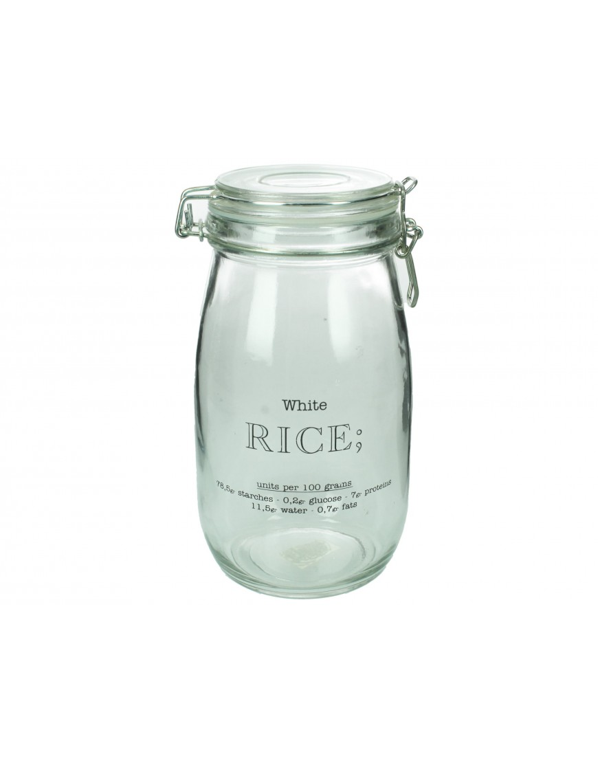 Canister Rice Glass