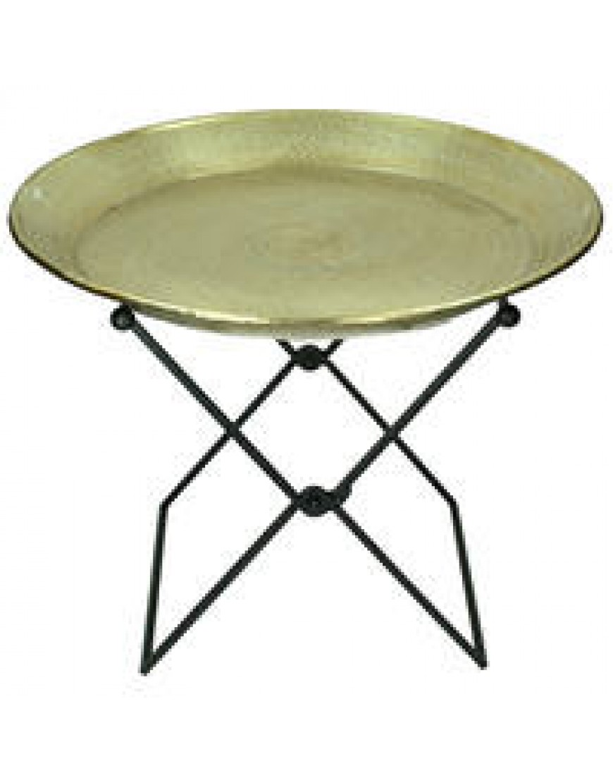 Plate with stand gold