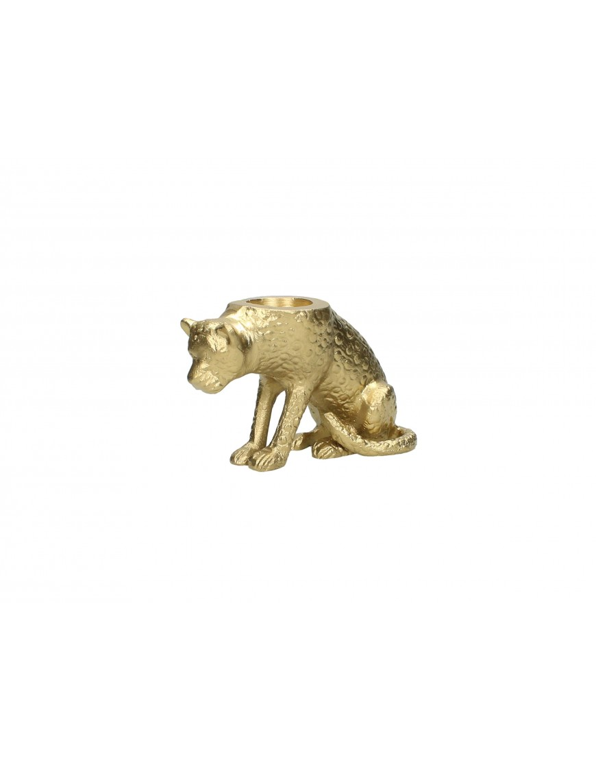 Candle Holder Panter Gold
