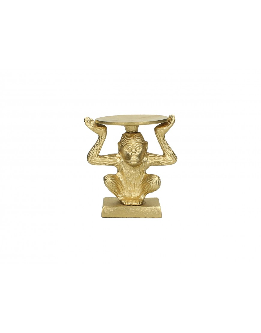 Candle Holder Monkey Gold