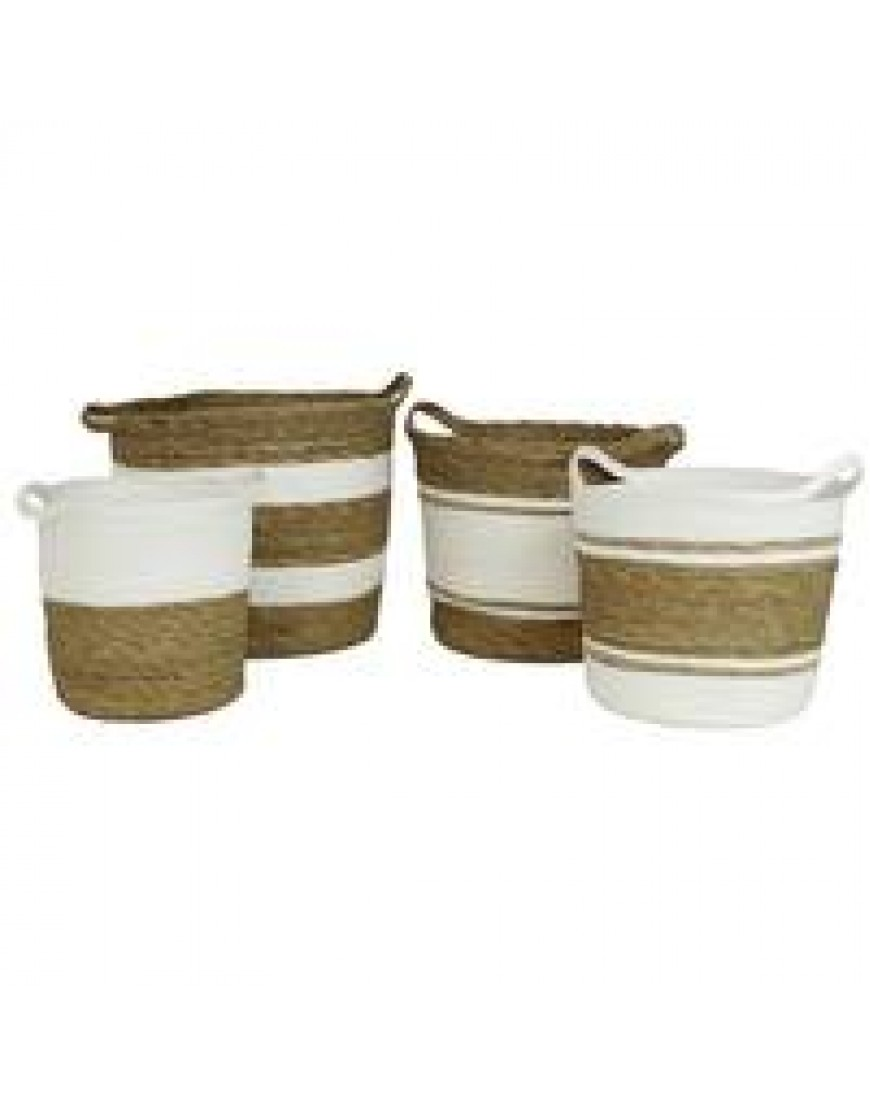 Baskets white/beige in different sizes