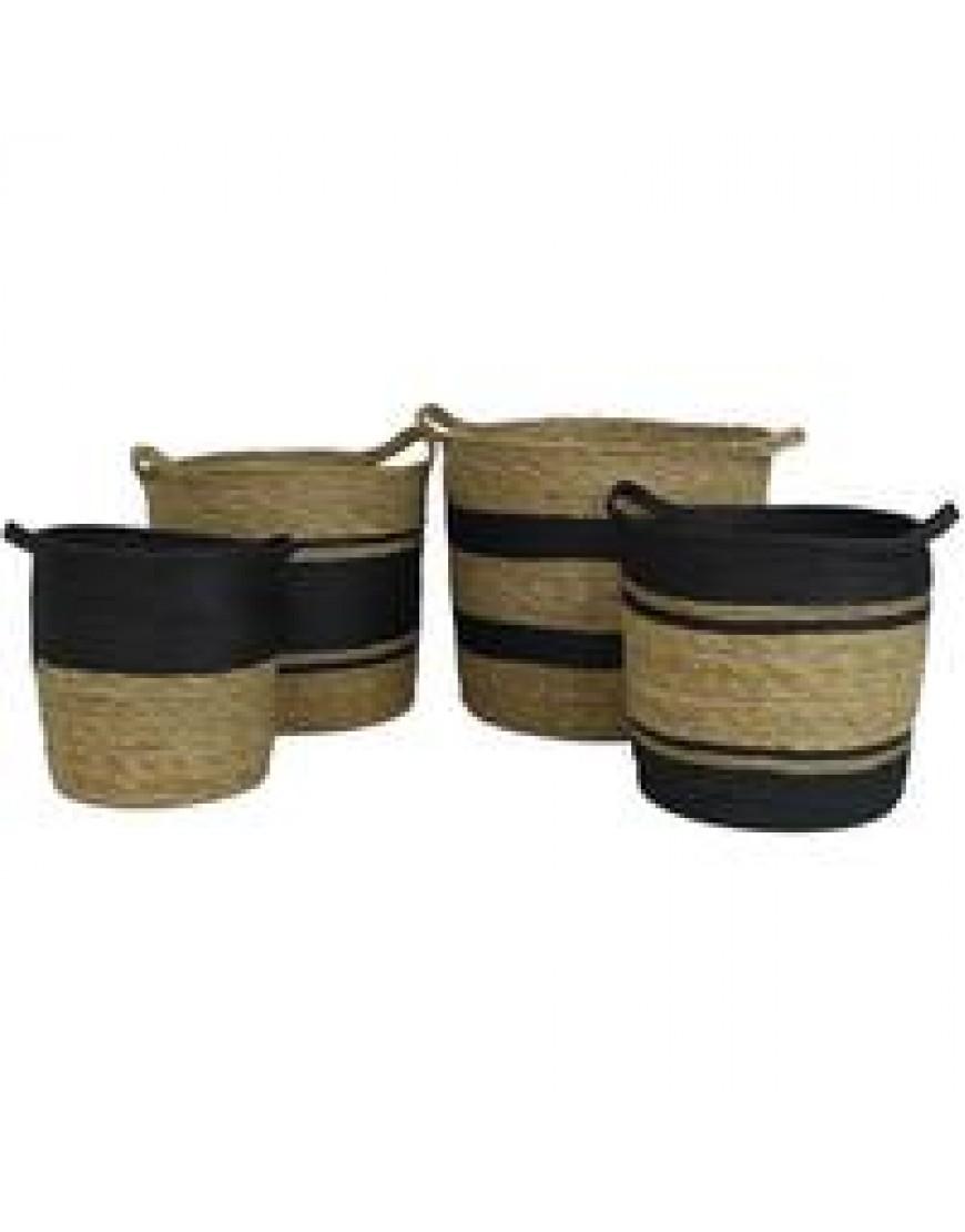 Baskets black/beige in different sizes