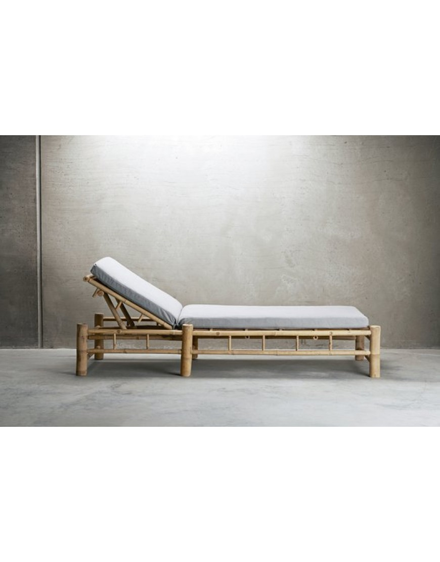 Bamboo Sunbed with grey Mattress